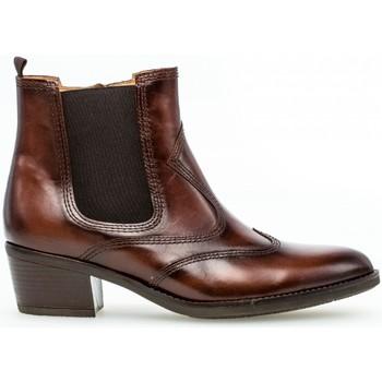 Chaussures Femme Bottines Gabor Bottines santiag Marron
