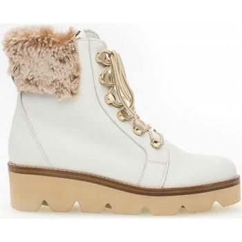 Chaussures Femme Boots Gabor Bottine cuir talon  compensé Blanc