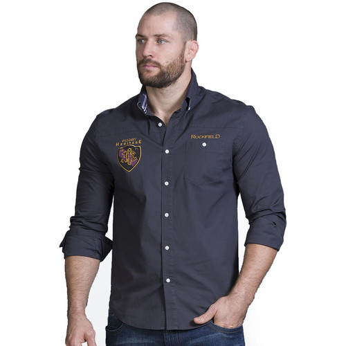 Vêtements Homme Chemises manches longues Ruckfield Chemise grise rugby Gris