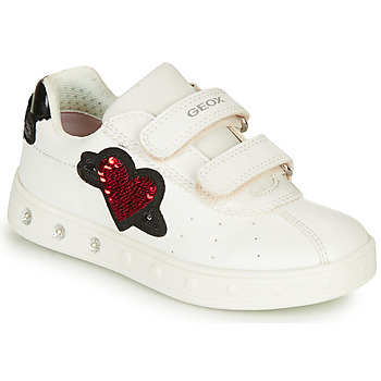 Chaussures Fille Baskets basses Geox J SKYLIN GIRL Blanc