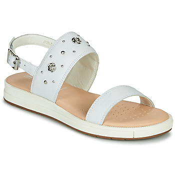 Chaussures Fille Sandales et Nu-pieds Geox J SANDAL REBECCA GIR Blanc