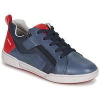 Chaussures Garçon Baskets basses Geox J POSEIDO BOY Marine / Rouge