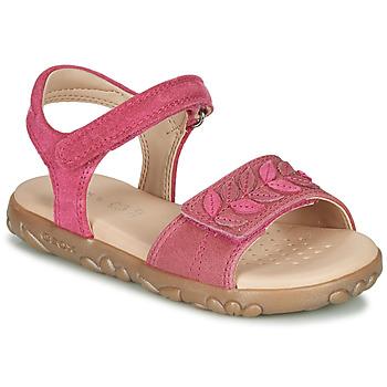 Chaussures Fille Sandales et Nu-pieds Geox J SANDAL HAITI GIRL Fuchsia