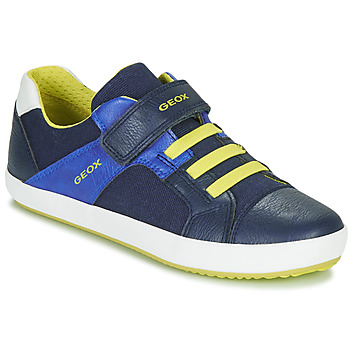 Chaussures Garçon Baskets basses Geox J GISLI BOY Marine / Jaune