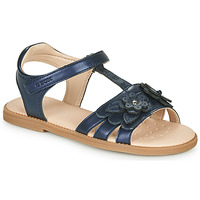 Chaussures Fille Sandales et Nu-pieds Geox J SANDAL KARLY GIRL Marine