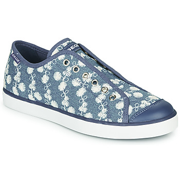 Chaussures Fille Baskets basses Geox JR CIAK GIRL Bleu / Blanc