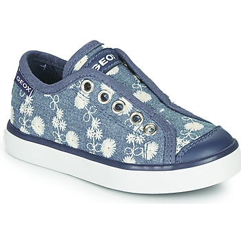 Chaussures Fille Baskets basses Geox JR CIAK GIRL Bleu / Blanc