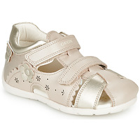 Chaussures Fille Sandales et Nu-pieds Geox B KAYTAN Doré / Beige