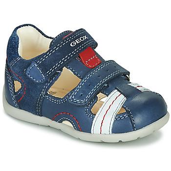 Chaussures Garçon Sandales et Nu-pieds Geox B KAYTAN Bleu / Blanc / Rouge