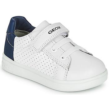 Chaussures Garçon Baskets basses Geox B DJROCK BOY Blanc / Bleu