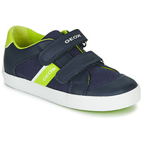 Chaussures Garçon Baskets basses Geox B GISLI BOY Marine / Vert