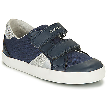 Chaussures Fille Baskets basses Geox B GISLI GIRL Marine / Argent