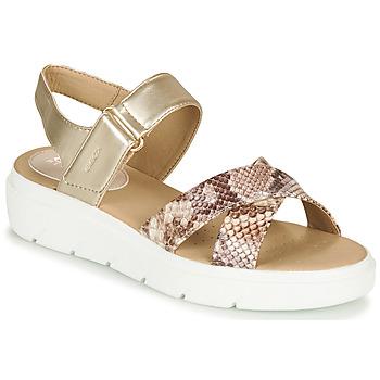 Chaussures Femme Sandales et Nu-pieds Geox D TAMAS Doré / Taupe