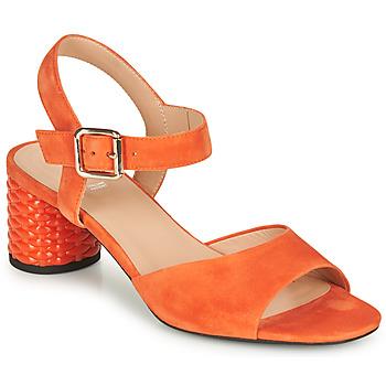 Chaussures Femme Sandales et Nu-pieds Geox D ORTENSIA MID SANDA Orange