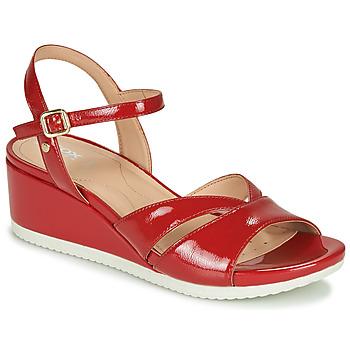Chaussures Femme Sandales et Nu-pieds Geox D ISCHIA Rouge