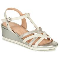 Chaussures Femme Sandales et Nu-pieds Geox D ISCHIA Blanc / Argenté