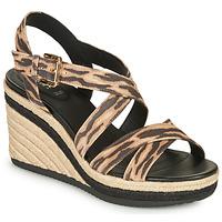 Chaussures Femme Sandales et Nu-pieds Geox D PONZA Marron / Noir