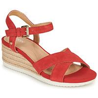 Chaussures Femme Sandales et Nu-pieds Geox D ISCHIA CORDA Rouge