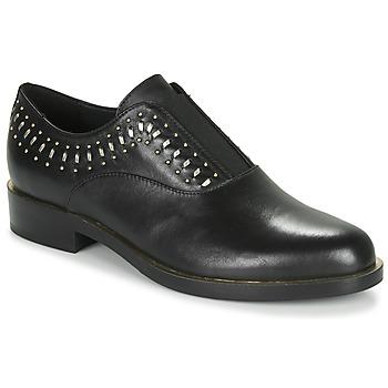 Chaussures Femme Derbies Geox D BROGUE S Noir / Doré