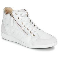 Chaussures Femme Baskets montantes Geox D MYRIA Blanc