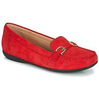 Chaussures Femme Mocassins Geox D ANNYTAH MOC Rouge / Doré