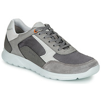 Chaussures Homme Baskets basses Geox U ERAST Gris / Blanc / Orange