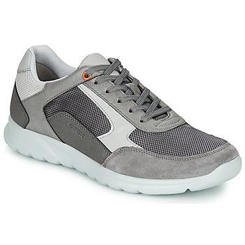 Chaussures Homme Baskets basses Geox U ERAST Gris / Blanc / Orange