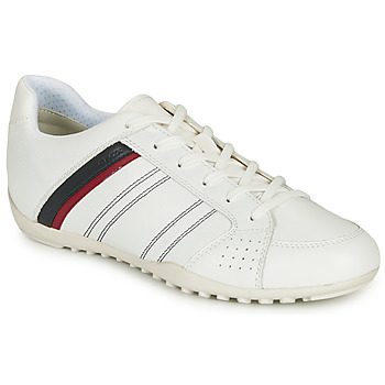 Chaussures Homme Baskets basses Geox U WELLS Blanc / Marine / Rouge