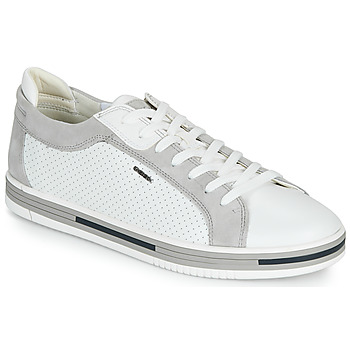 Chaussures Homme Baskets basses Geox U EOLO Blanc / Gris