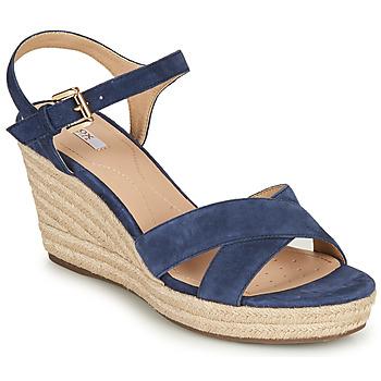 Chaussures Femme Sandales et Nu-pieds Geox D SOLEIL Bleu