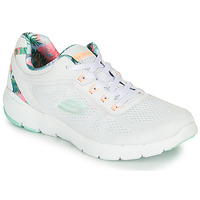 Chaussures Femme Fitness / Training Skechers FLEX APPEAL 3.0 Blanc