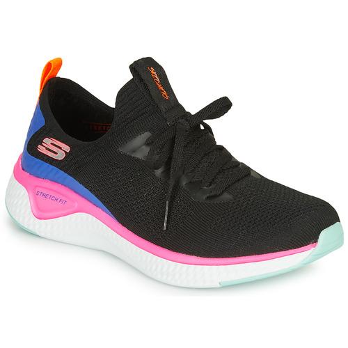 Chaussures Femme Fitness / Training Skechers SOLAR FUSE Noir / Rose / Bleu