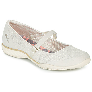 Chaussures Femme Ballerines / babies Skechers BREATHE-EASY Beige