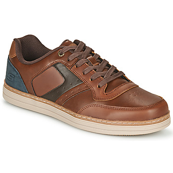 Chaussures Homme Baskets basses Skechers HESTON PELANO Marron / Bleu