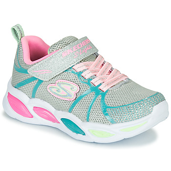 Chaussures Fille Baskets basses Skechers SHIMMER BEAMS Argenté / Rose / Bleu