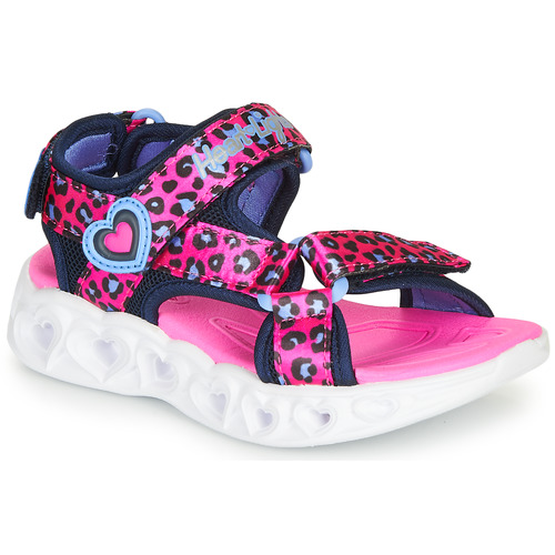 Chaussures Fille Sandales sport Skechers HEART LIGHTS Rose / Noir