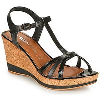 Chaussures Femme Sandales et Nu-pieds Tamaris  Noir