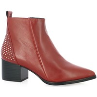 Chaussures Femme Bottines Adele Dezotti Boots cuir rouge