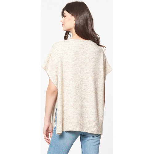 Pull forme poncho  Best Mountain  tops / blouses  femme  ecru chine