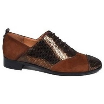 Chaussures Femme Derbies Karston Derby jobon Marron