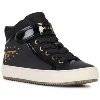 Chaussures Fille Baskets montantes Geox Basket montante j  kalispera g m Noir