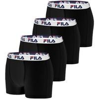 Sous-vêtements Homme Boxers Fila Lot de 4 Boxers Coton homme  5016 Noir Noir