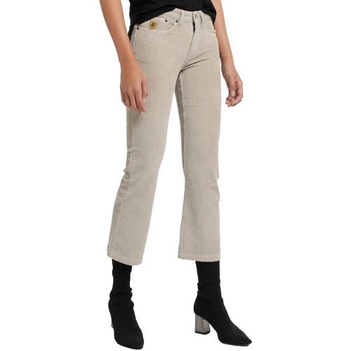 Vêtements Femme Pantalons fluides / Sarouels Lois Pantalon Velours Beige  Pana-Coty 582 Beige