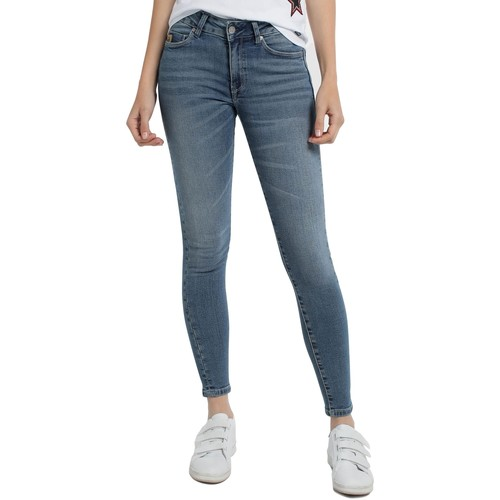 Vêtements Femme Pantalons fluides / Sarouels Lois Jean denim Blue-Lue Ankle High 960 Bleu