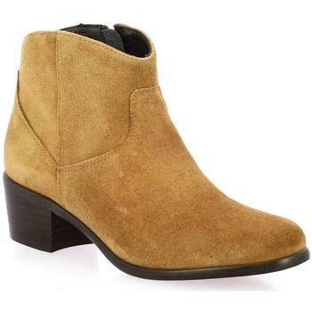 Chaussures Femme Bottines Elizabeth Stuart Boots cuir velours Cognac
