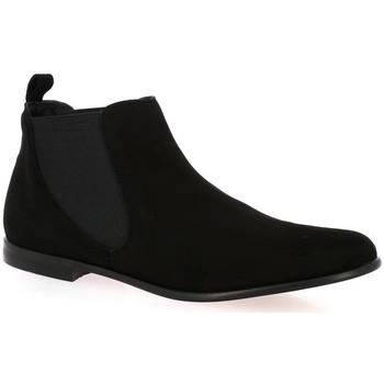 Chaussures Femme Boots Elizabeth Stuart Boots cuir velours Noir
