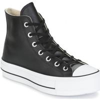 Chaussures Femme Baskets montantes Converse montante platform cuir Noir