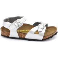 Chaussures Fille Sandales et Nu-pieds Birkenstock rio birko-flor® Argent