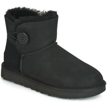 Chaussures Femme Bottes de neige UGG mini bailey button Noir