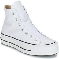 Chaussures Femme Baskets montantes Converse montante platform toile Blanc
